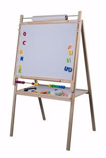 Obrázek Dětská magnetická tabule 4v1 přírodní - 108/159 cm