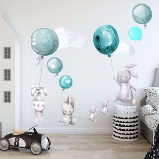 Obrázek Králíčci a balonky Modrá