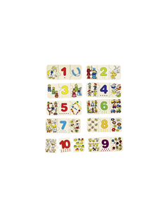 Obrázek Puzzle - počítání a přiřazování