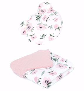 Obrázek Dětská deka s polštářem Méďy Květy Velvet