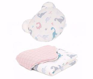 Obrázek Dětská deka s polštářem Méďy Dino Velvet
