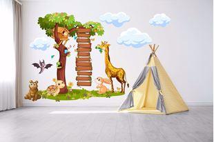 Obrázek Samolepka na zeď Strom se žebříkem a zvířátky