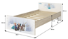 Obrázek z Disney Dětská postel Minnie Paříž 200x90 cm