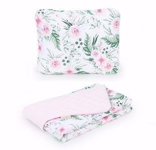Obrázek Dětská deka s polštářem Kytičky Velvet 75x100 cm - různé barvy a varianty