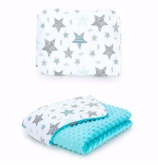 Obrázek z Dětská deka s polštářem Hvězdy 2 Minky 75x100 cm - různé varianty