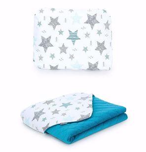Obrázek Dětská deka s polštářem Hvězdy 2 Velvet 75x100 cm - různé varianty