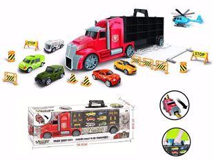 Obrázek Nákladní automobil s autíčky a silničním příslušenstvím