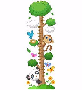 Obrázek Metr na stěnu - Přátelé z lesa