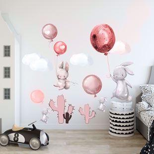 Obrázek Králíčci a balonky Růžová