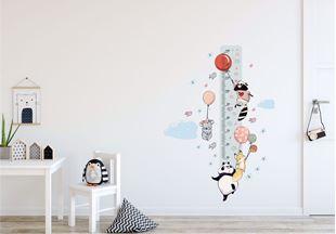 Obrázek Metr na stěnu - Zvířátka a balónky