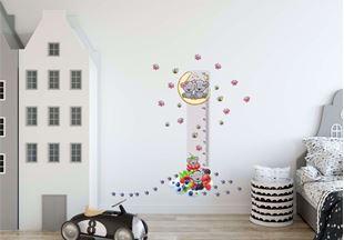 Obrázek Metr na stěnu - Medvídek, ovoce a včelky