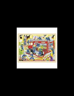 Obrázek Puzzle – hasiči při zásahu, 48 dílů