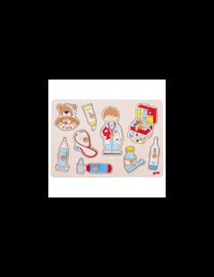 Obrázek Vkládací puzzle - u lékaře