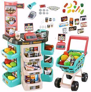 Obrázek Dětský supermarket s vozíkem a příslušenstvím