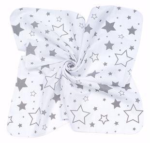 Obrázek Mušelínové plenky 35x35 (3 ks) Hvězdy Šedé
