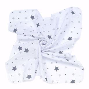 Obrázek Mušelínové plenky 35x35 (3 ks) Hvězdy Plné