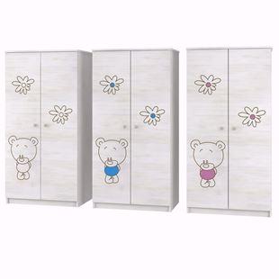 Obrázek Šatní skříň Medvídek BÍLÁ