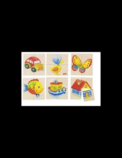 Obrázek Puzzle a paměťová hra rybka, kačenka - 24 díly