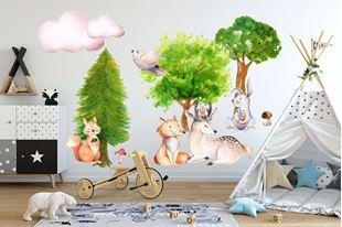 Obrázek Samolepka na zeď Lesní zvířátka
