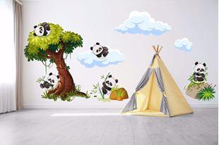 Obrázek Samolepka na zeď Pandy v přírodě