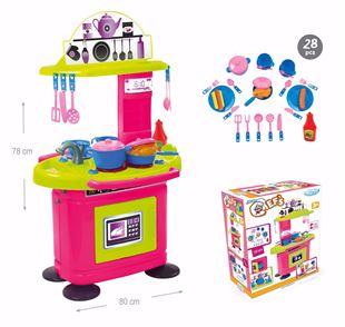Obrázek Dětská kuchyňka Růžovo-Zelená