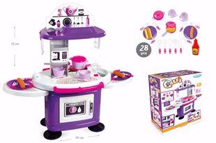 Obrázek Dětská kuchyňka s poličkami Fialová