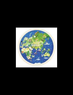 Obrázek Oboustranné puzzle – Zeměkoule