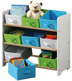Obrázek Organizer na hračky s barevnými boxy