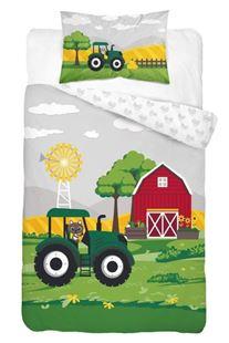 Obrázek Dětské povlečení Traktor - zelený 135x100 cm