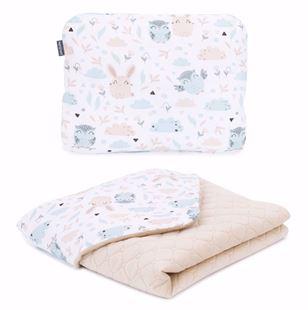 Obrázek Dětská deka s polštářem Lesík Velvet 75x100 cm Béžová - různé varianty
