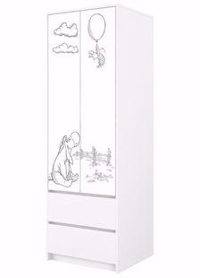 Obrázek Disney Šatní skříň Medvídek Pú černo-bílá