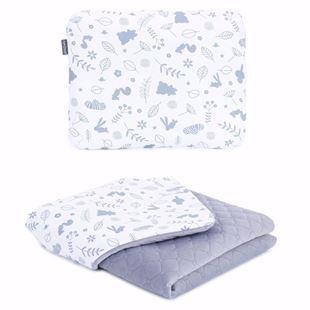 Obrázek Dětská deka s polštářem Les Velvet 75x100 cm Šedá - různé varianty