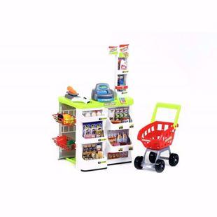 Obrázek Dětský supermarket s nákupním vozíkem a váhou