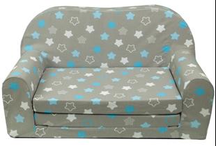 Obrázek Rozkládací dětská mini pohovka Hvězdy modré