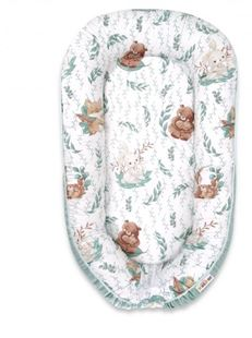 Obrázek Maxi oboustran. hnízdečko Velvet pro miminko LULU natural - mátová