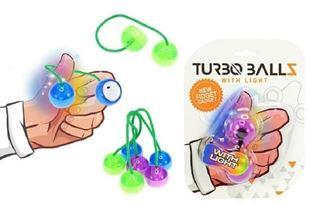 Obrázek Fidget Turbo ballz plast na baterie se světlem asst 4 barvy na kartě 12x17cm