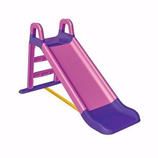 Obrázek 3-stupňová dětská skluzavka růžovo-fialová