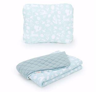 Obrázek Set deka s polštářkem do kočárku 55x75 cm Les
