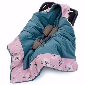 Obrázek z Zavinovací deka s kapucí Květy