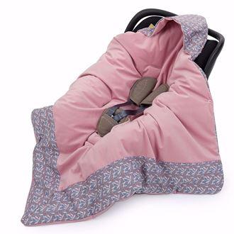 Obrázek z Zavinovací deka s kapucí Lístečky