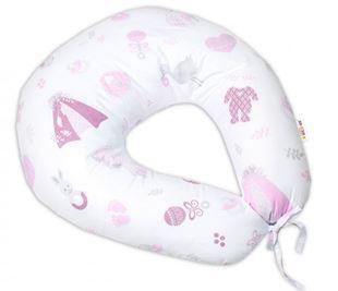 Obrázek Bavlněný kojící polštář, New Love Baby - růžová
