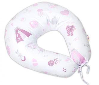 Obrázek z Bavlněný kojící polštář, New Love Baby - růžová