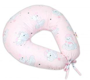 Obrázek Bavlněný kojící polštář, Mráček - růžová