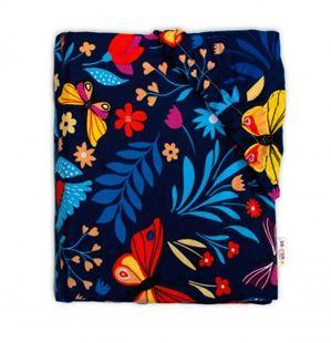 Obrázek Bavlněné prostěradlo 60 x 120 -  Motýlí louka, granát