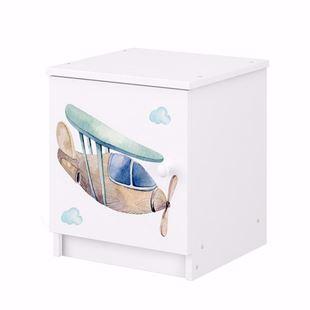 Obrázek Noční stolek Domečky a letadlo
