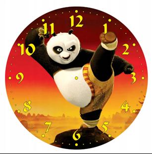 Obrázek Dětské hodiny Panda bojovník