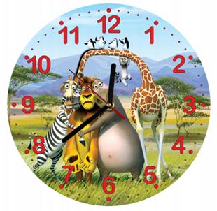 Obrázek Dětské hodiny Madagaskar