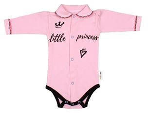 Obrázek Body dlouhý rukáv s límečkem, růžové Little Princess
