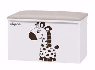 Obrázek Truhla na hračky s podsedákem Žirafka