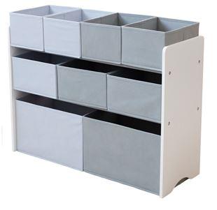 Obrázek Organizér na hračky bílo-šedý